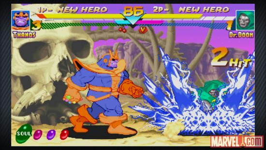 Screenshot from Marvel vs. Capcom Origins