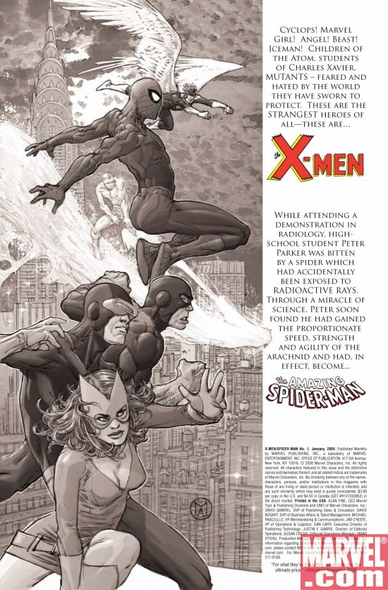 X-MEN/SPIDER-MAN #1, page 1
