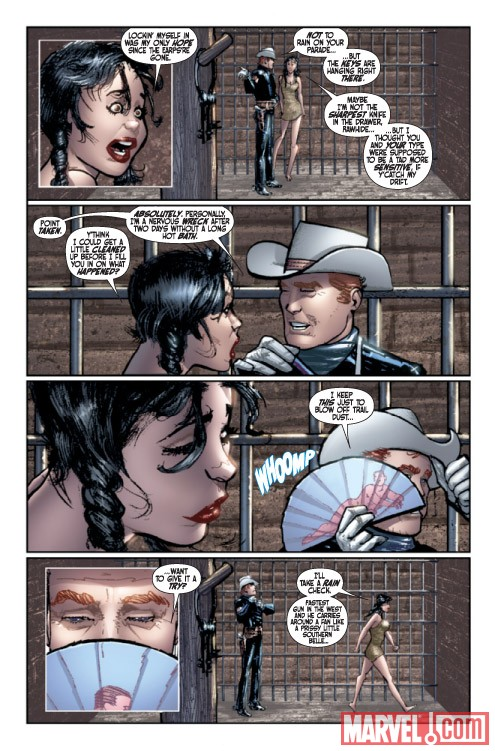 THE RAWHIDE KID #1 preview art by Howard Chaykin