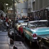 Classic '60s cars at the 'X-Men: First Class' red carpet event in NYC