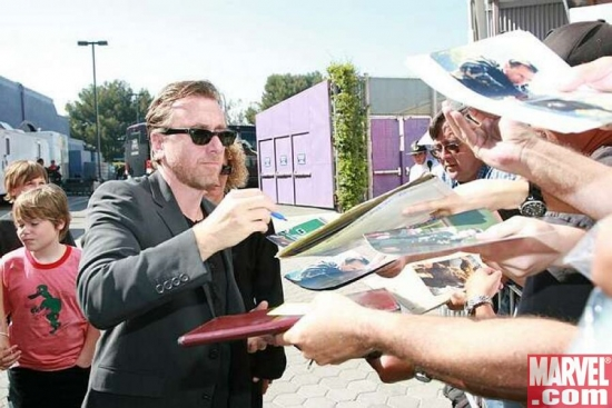 Tim Roth signing for the fans