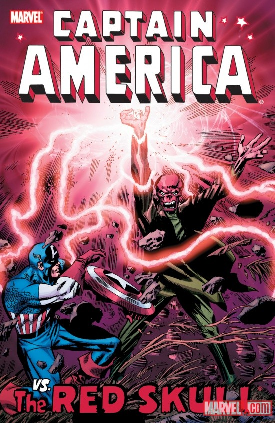 CAPTAIN AMERICA VS. THE RED SKULL TPB cover by Jack Kirby