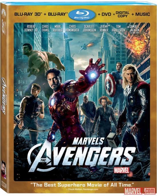 Marvel's The Avengers 4-Disc Combo Pack box art