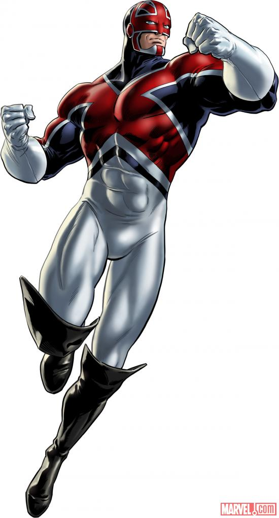 Captain Britain character model from Marvel: Avengers Alliance