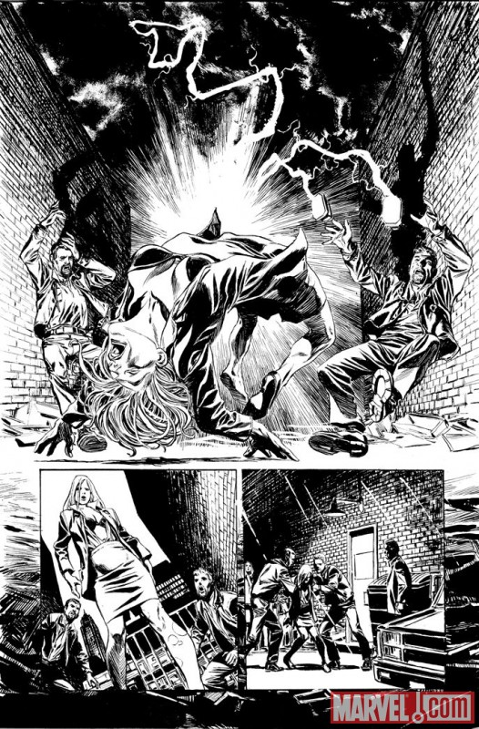 VALKYRIE #1 black and white preview art by Phil Winslade 4