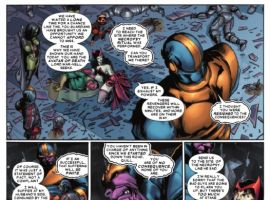 THE THANOS IMPERATIVE #5 preview page by Miguel Sepulveda