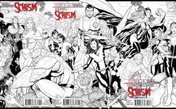 X-Men: Schism X Printing Connecting Variant Covers by  Frank Cho