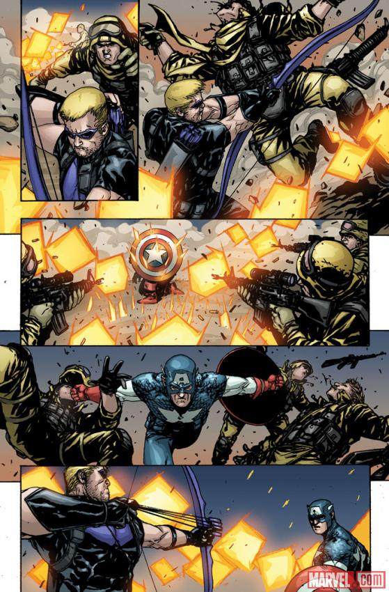 Captain America & Hawkeye #629 preview art by Alessandro Vitti