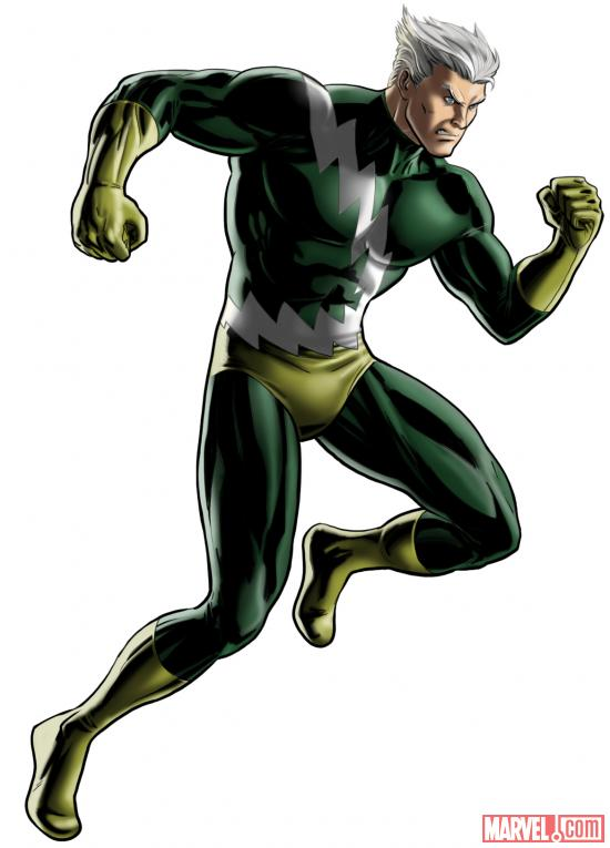 Quicksilver character model from Marvel: Avengers Alliance