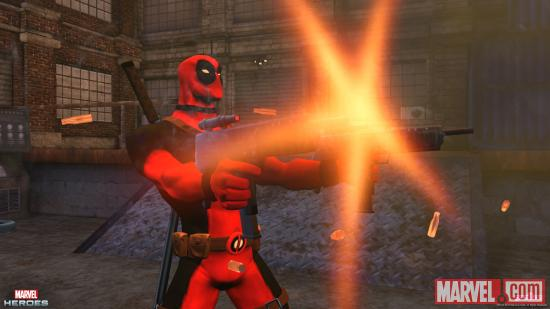 Screenshot of Deadpool in Marvel Heroes