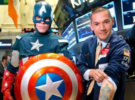 Captain America & Kiehl's Ring the NYSE Opening