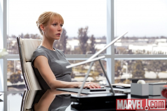 Pepper Potts, played by Gwyneth Paltrow, in Iron Man 2