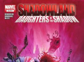 SHADOWLAND: DAUGHTERS OF THE SHADOW #2 cover by Jean-Baptiste Andreae