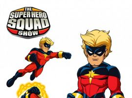 Final color art for Captain Marvel from 'The Super Hero Squad Show' Season 2