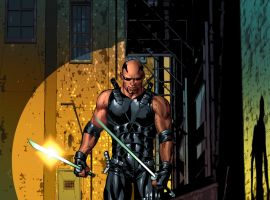 Blade card art by Mike Deodato from Marvel War of Heroes