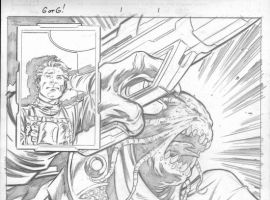 GUARDIANS OF THE GALAXY page one pencils by Paul Pelletier