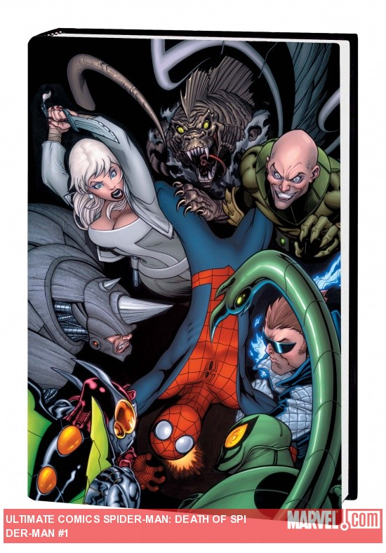 ULTIMATE COMICS SPIDER-MAN: DEATH OF SPIDER-MAN PRELUDE PREMIERE HC (DM Variant) cover