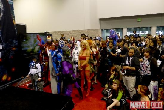 Marvel cosplayers at Wondercon 2012