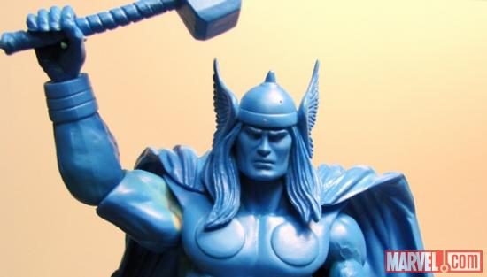 Blue prototype version of Thor close-up from DST
