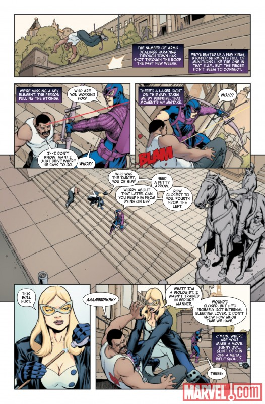 HAWKEYE & MOCKINGBIRD #1 preview art by David Lopez and Alvaro Lopez Ortiz De Urbina