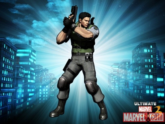 Alternate Chris Redfield skin from the Marvel vs. Capcom 3 DLC pack