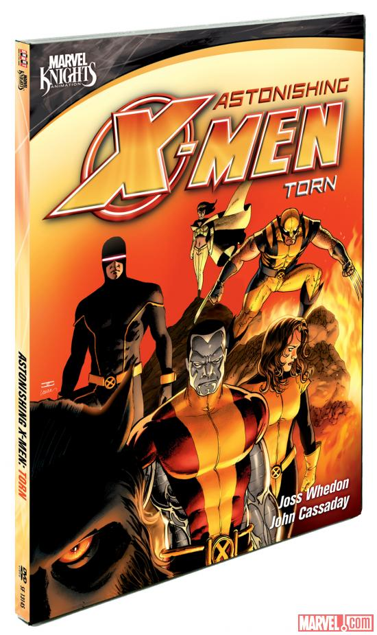 Astonishing X-Men: Torn DVD box art