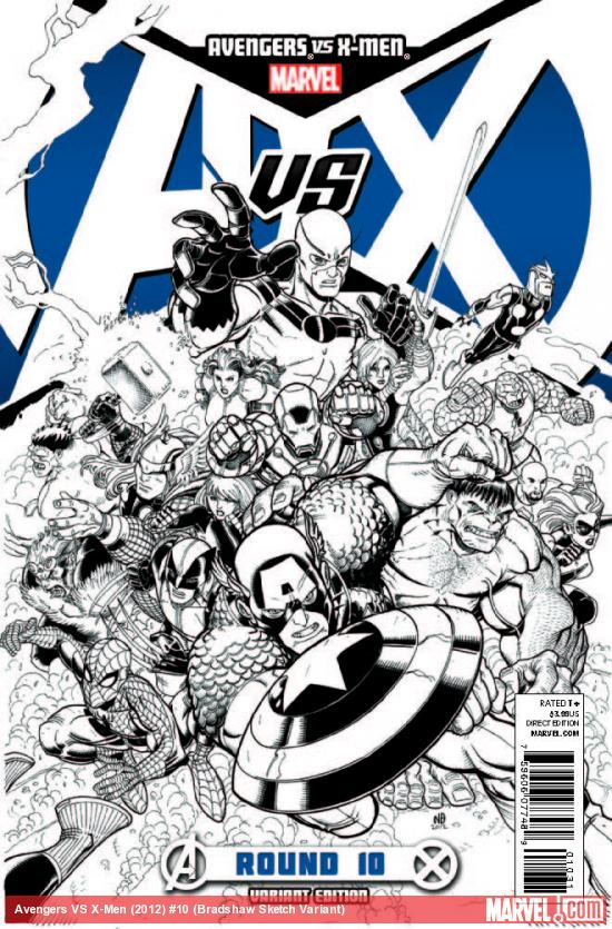 AVENGERS VS. X-MEN 10 BRADSHAW SKETCH VARIANT (1 FOR 200, WITH DIGITAL CODE)