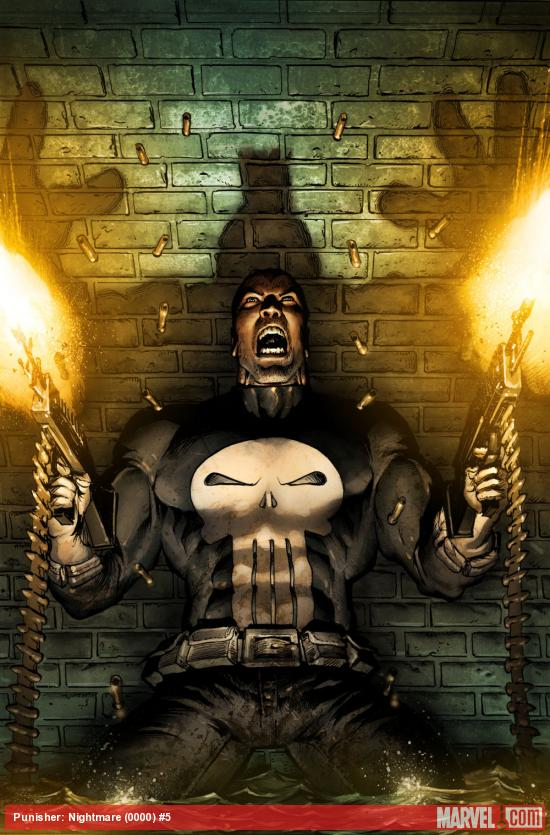 Punisher: Nightmare #5 cover by Mark Texeira