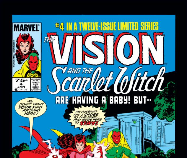 Vision and the Scarlet Witch (1985) #4 Cover