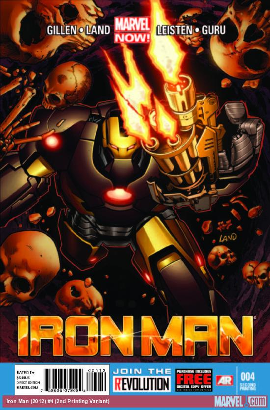 IRON MAN 4 2ND PRINTING VARIANT (NOW, WITH DIGITAL CODE)