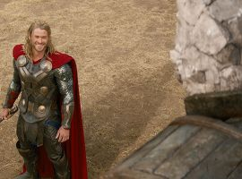 Thor faces a Kronan in Marvel's Thor: The Dark World