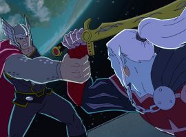Thor and Dracula take the fight to outer space in Marvel's Avengers Assemble