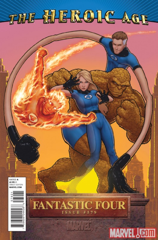 FANTASTIC FOUR #579 Heroic Age variant cover by Geoff Darrow