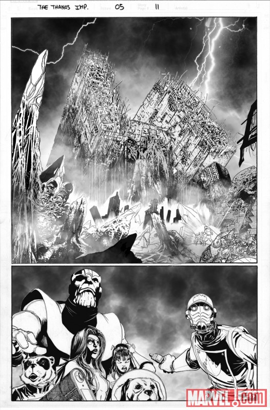 THE THANOS IMPERATIVE #5 black and white preview art by Miguel Sepulveda 3