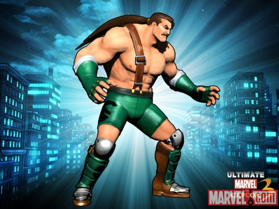 Alternate Haggar skin from the Brawler DLC pack for Ultimate Marvel vs. Capcom 3