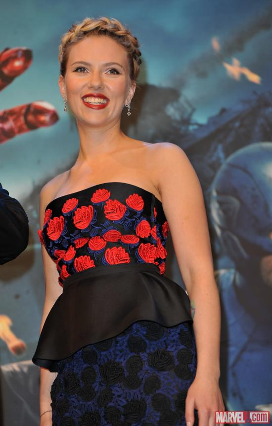"Scarlett Johansson at the London premiere of ""Marvel's The Avengers"""