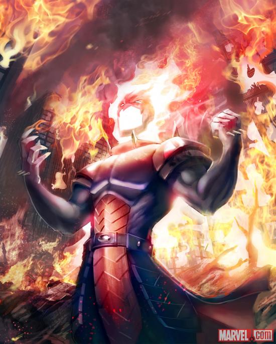 Dormammu card art by UDON from Marvel War of Heroes